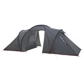 High Peak Como 6 Tent Dark Grey/Red